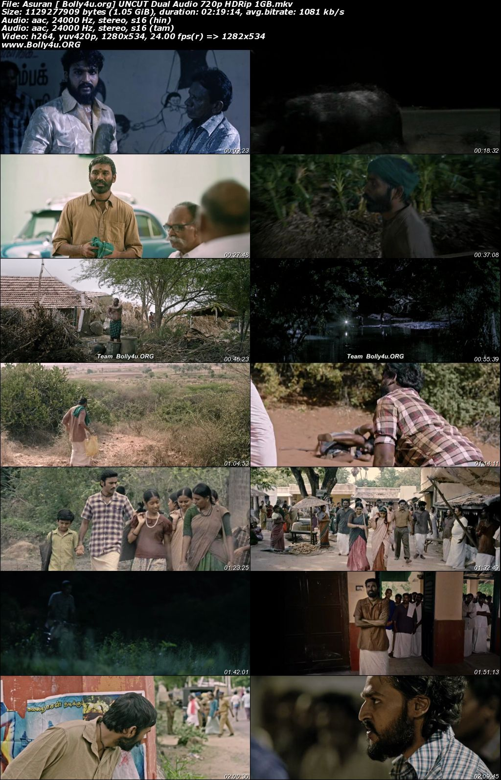 Asuran 2019 HDRip 1GB UNCUT Hindi Dual Audio 720p Download