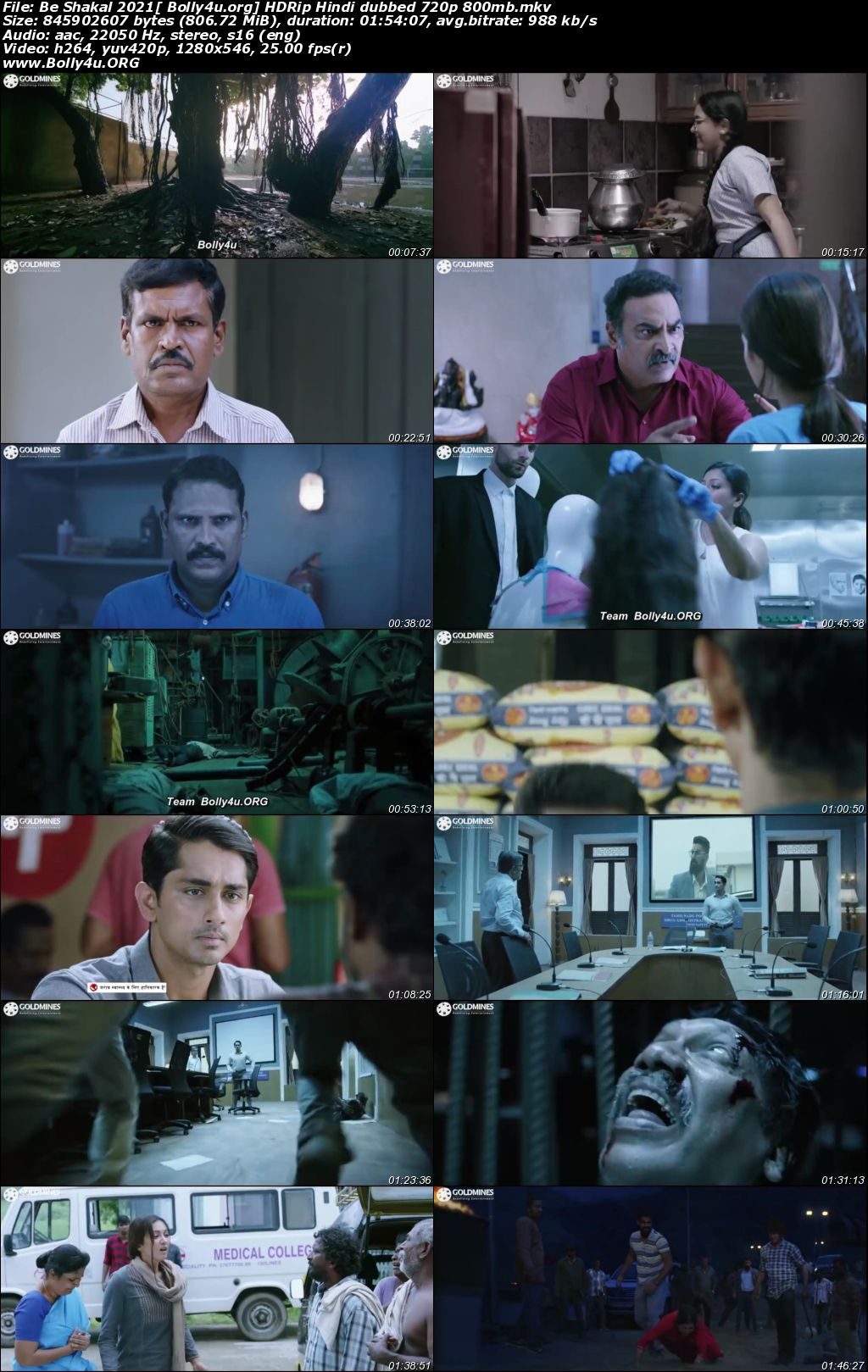 Be Shakal 2021 HDRip 350MB Hindi Dubbed 480p Download