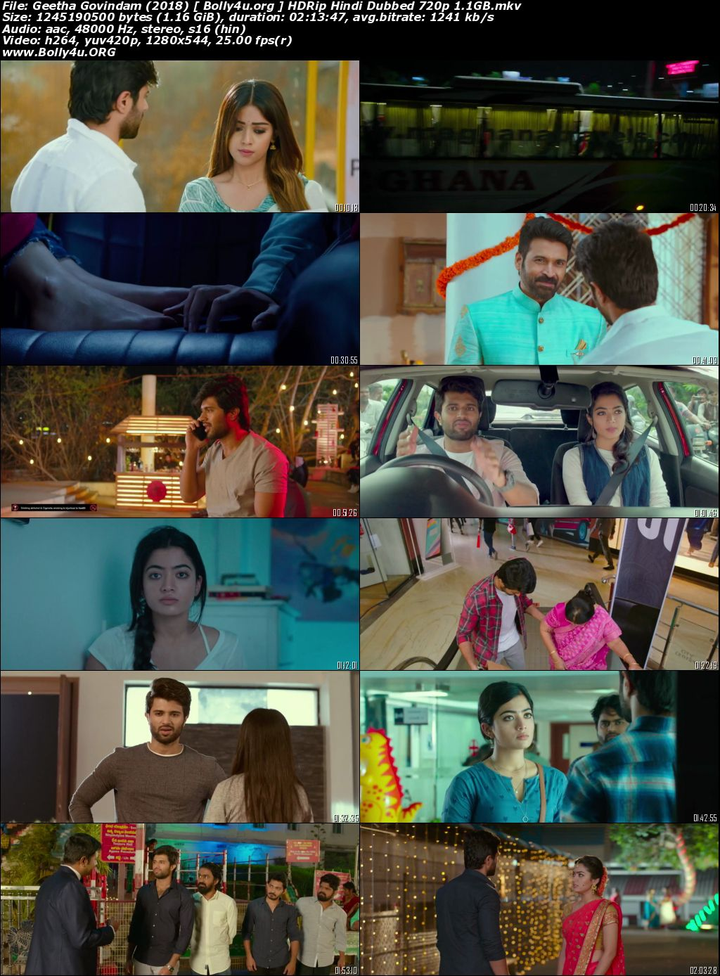 Geetha Govindam 2018 HDRip 400Mb Hindi Dubbed 480p Download