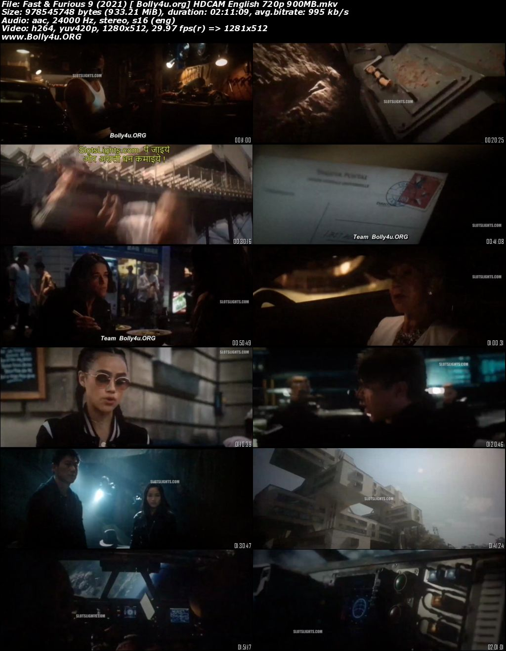 Fast and Furious 9 2021 HDCAM 400Mb English 480p Download