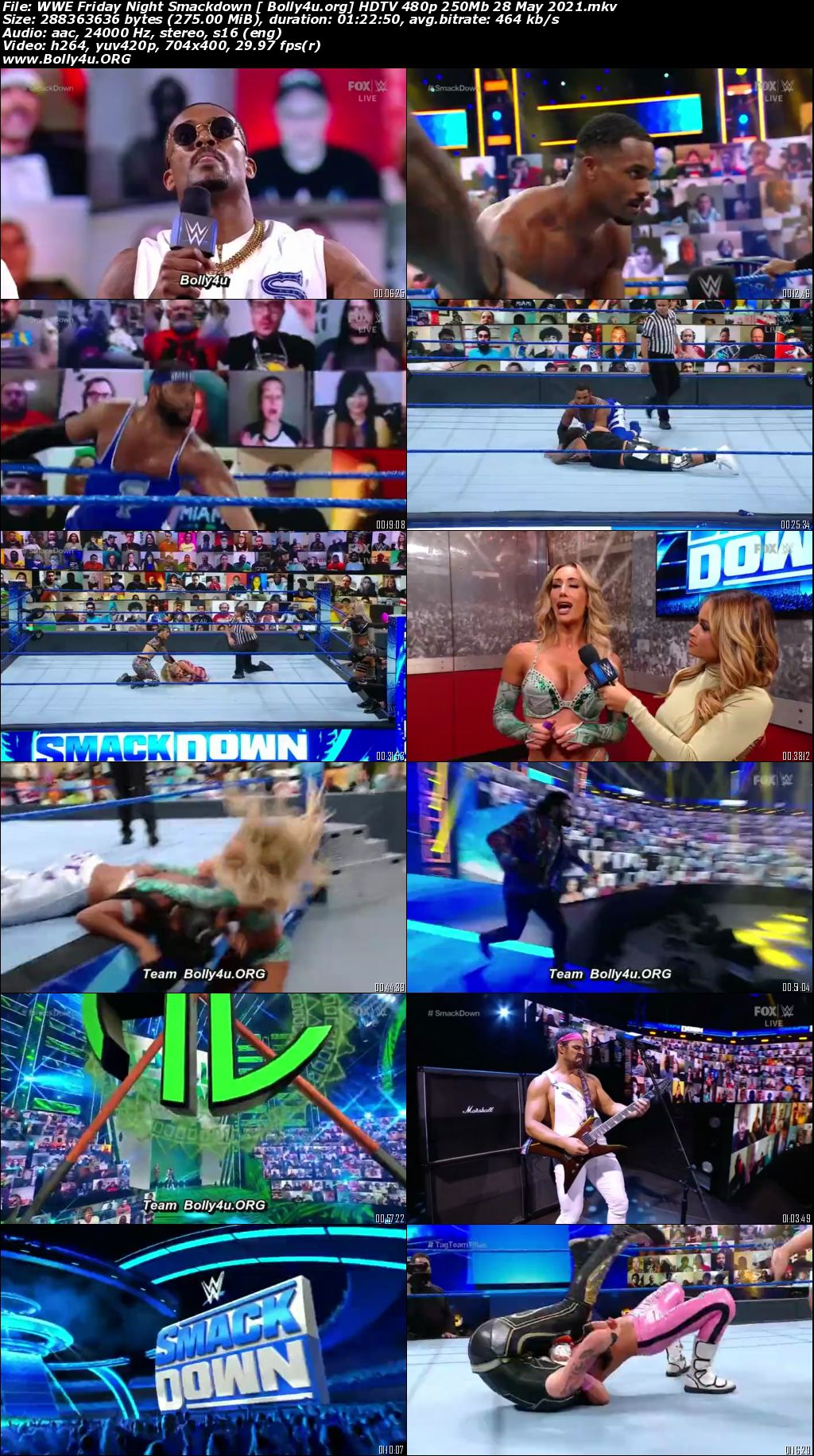 WWE Friday Night Smackdown HDTV 480p 250Mb 28 May 2021 Download