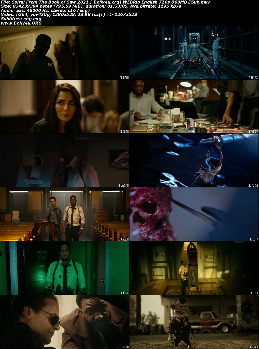 Spiral From The Book of Saw 2021 WEBRip 300MB English 480p ESub Download