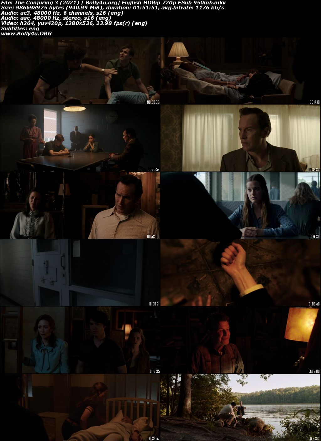 The Conjuring 3 2021 HDRip 350Mb English 480p ESubs Download