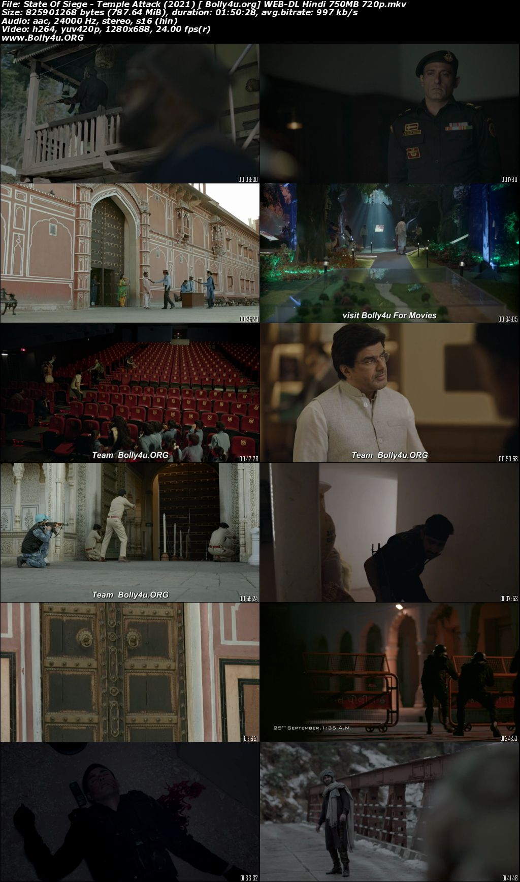 State Of Siege Temple Attack 2021 WEB-DL 350Mb Hindi Movie Download 480p