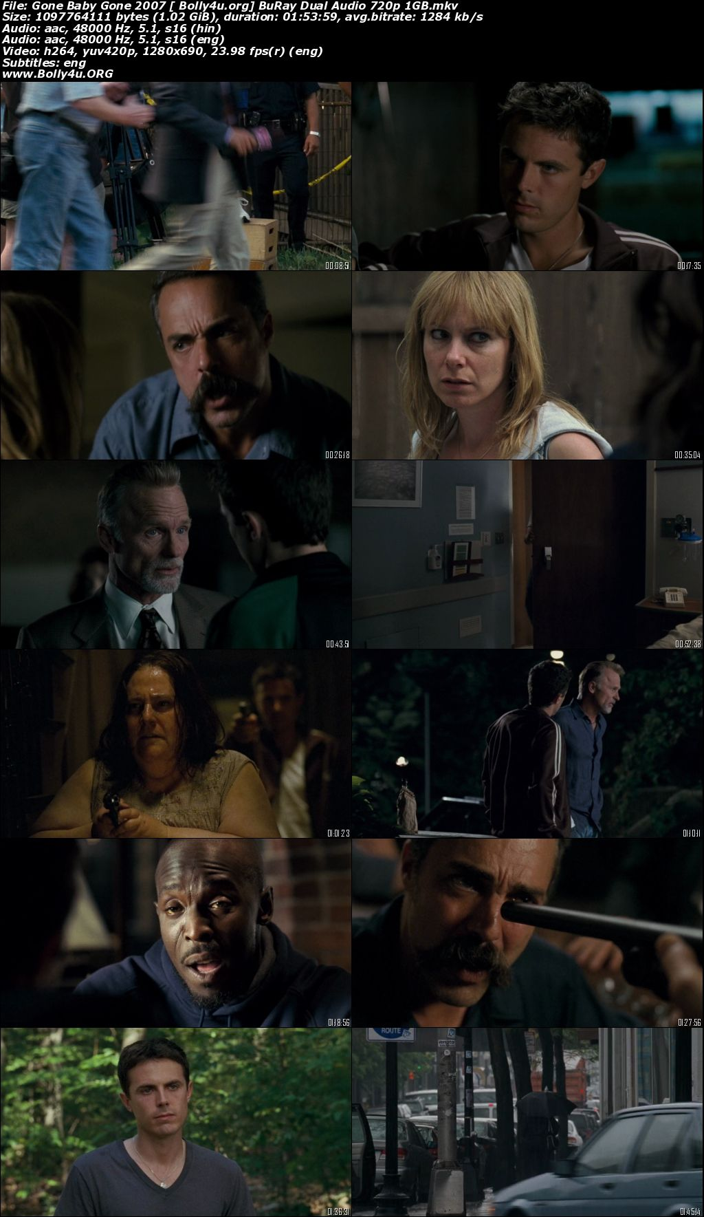 Gone Baby Gone 2007 BluRay 1GB Hindi Dual Audio ORG 720p Download
