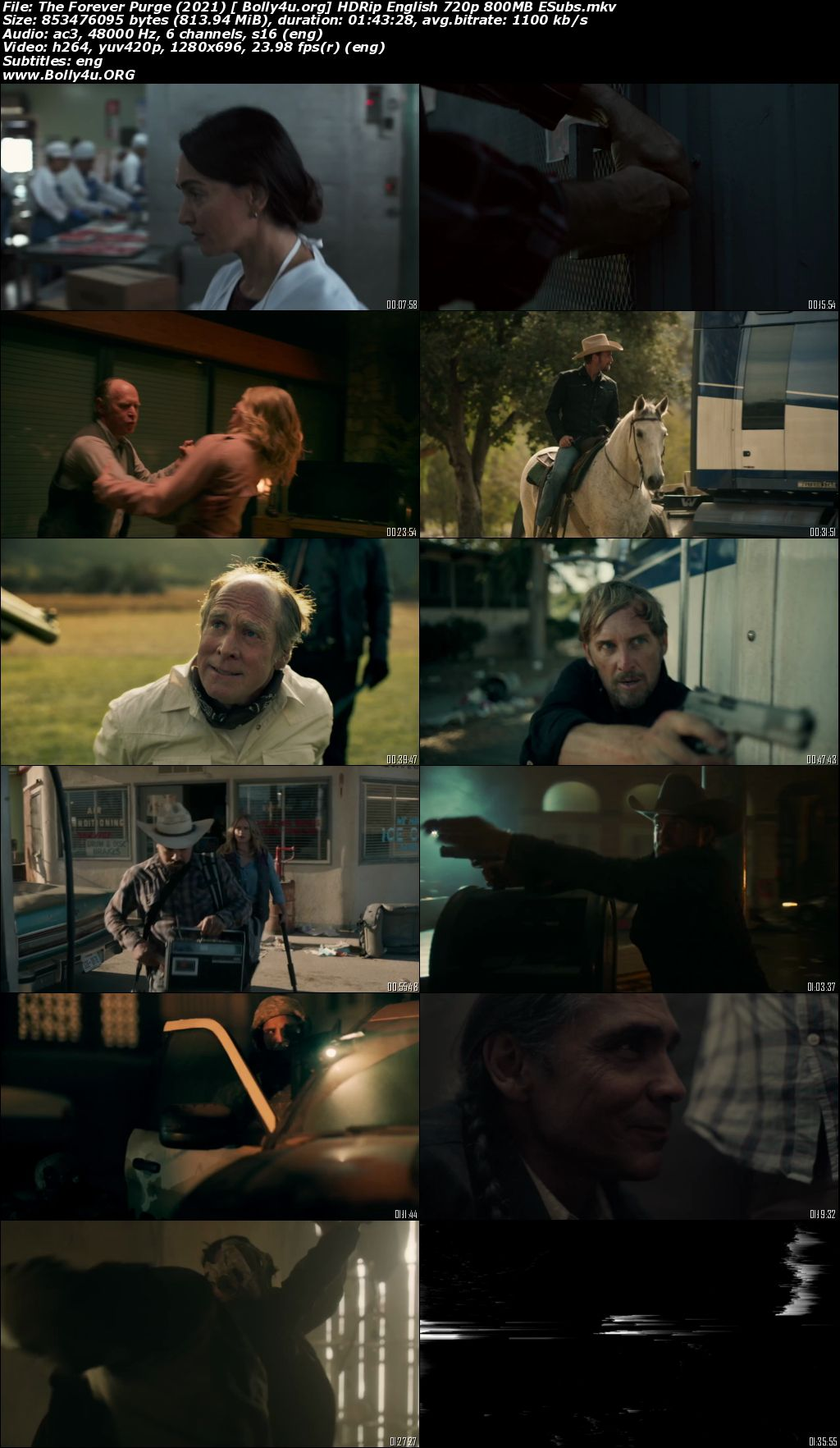 The Forever Purge 2021 HDRip 800Mb English 720p ESubs Download