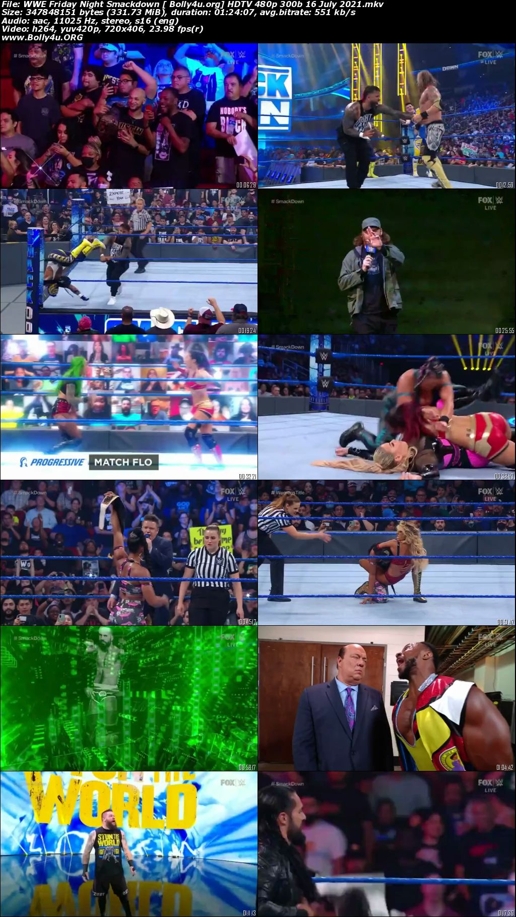 WWE Friday Night Smackdown HDTV 480p 300b 16 July 2021 Download