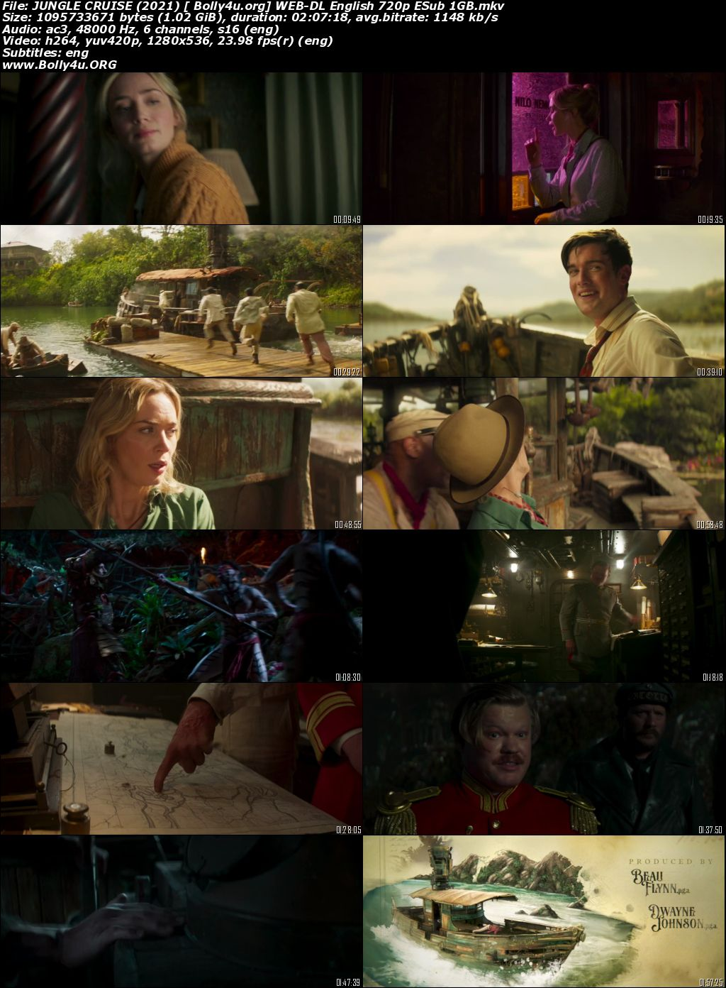 Jungle Cruise 2021 WEB-DL 350MB English 480p ESubs Download
