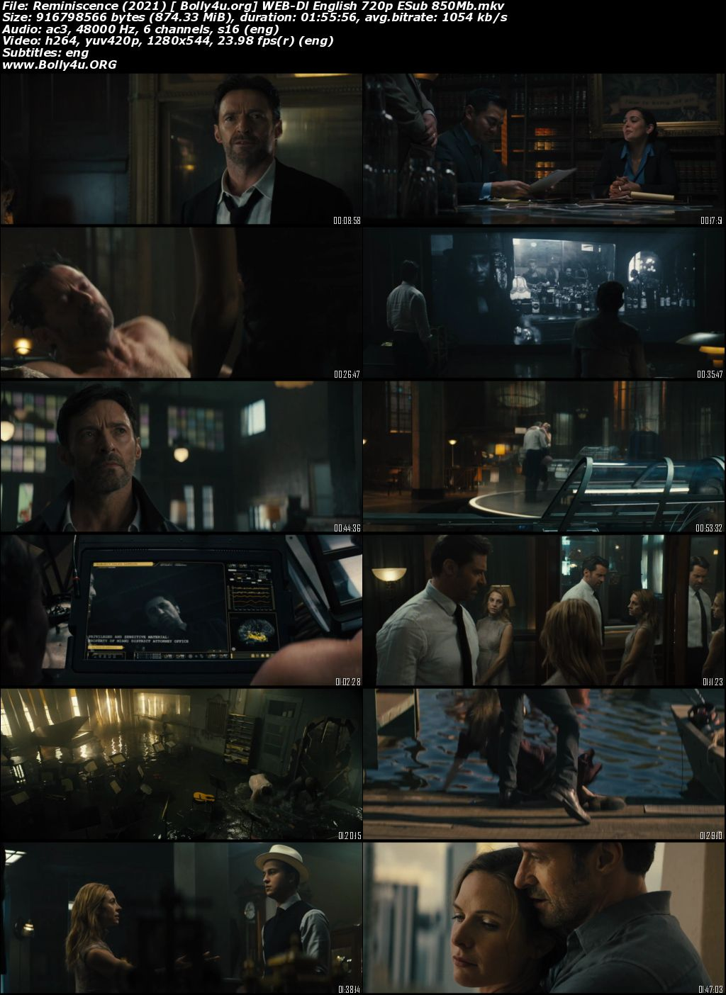 Reminiscence 2021 WEB-DL 350Mb English 480p ESubs Download
