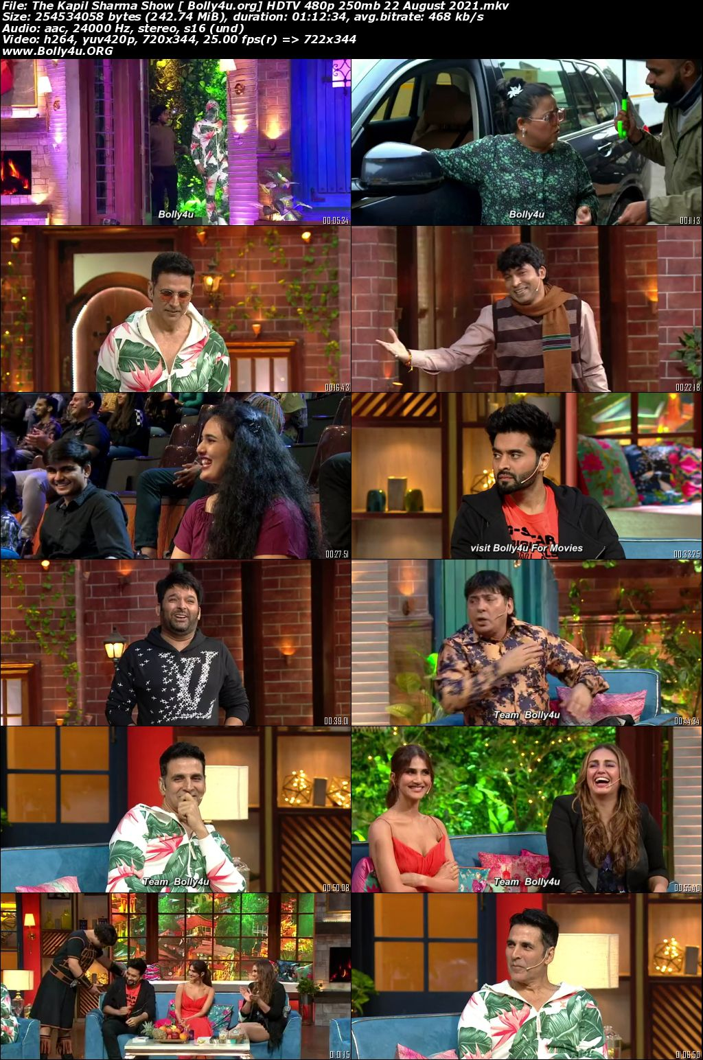 The Kapil Sharma Show HDTV 480p 250mb 22 August 2021 Download