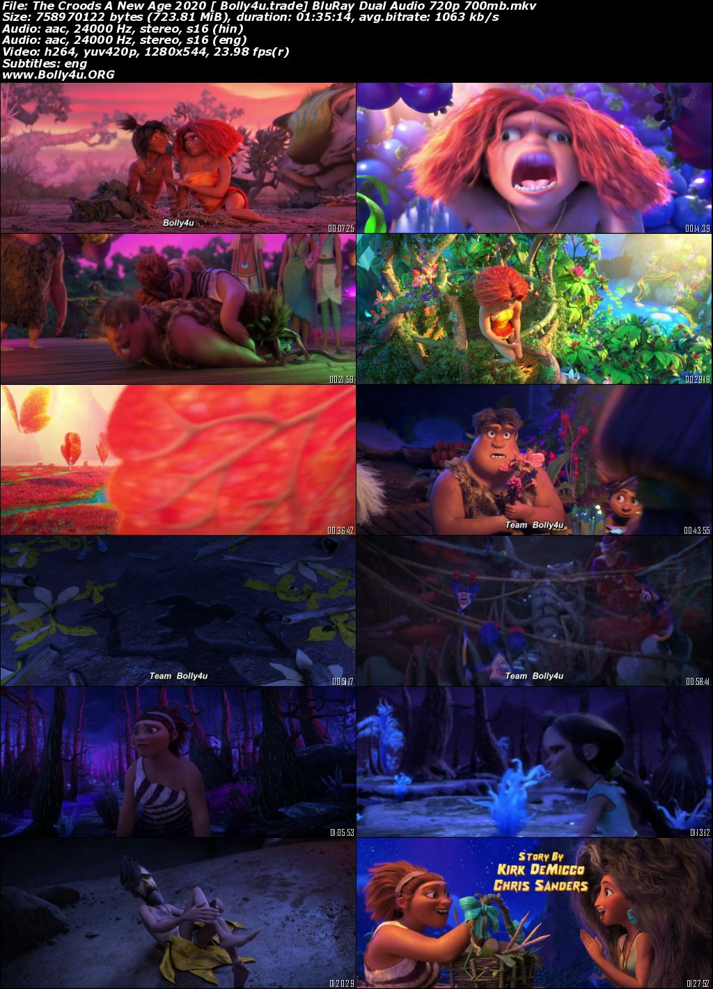 The Croods A New Age 2020 BuRay 300Mb Hindi CAM Dual Audio 480p Download