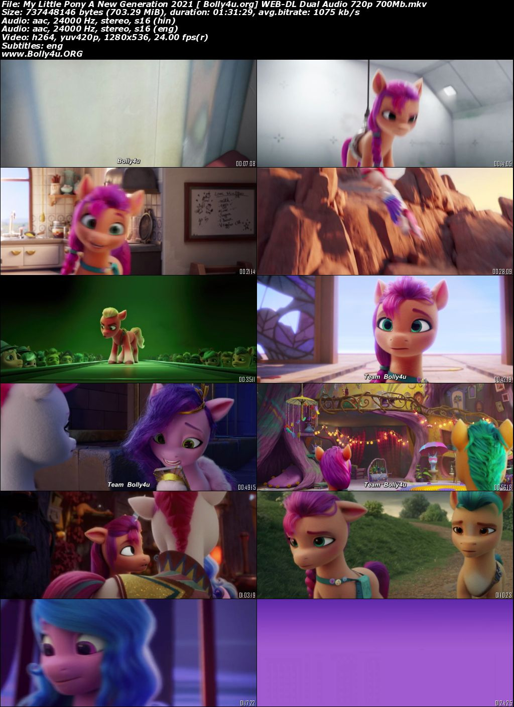 My Little Pony A New Generation 2021 WEB-DL 300MB Hindi Dual Audio 480p Download