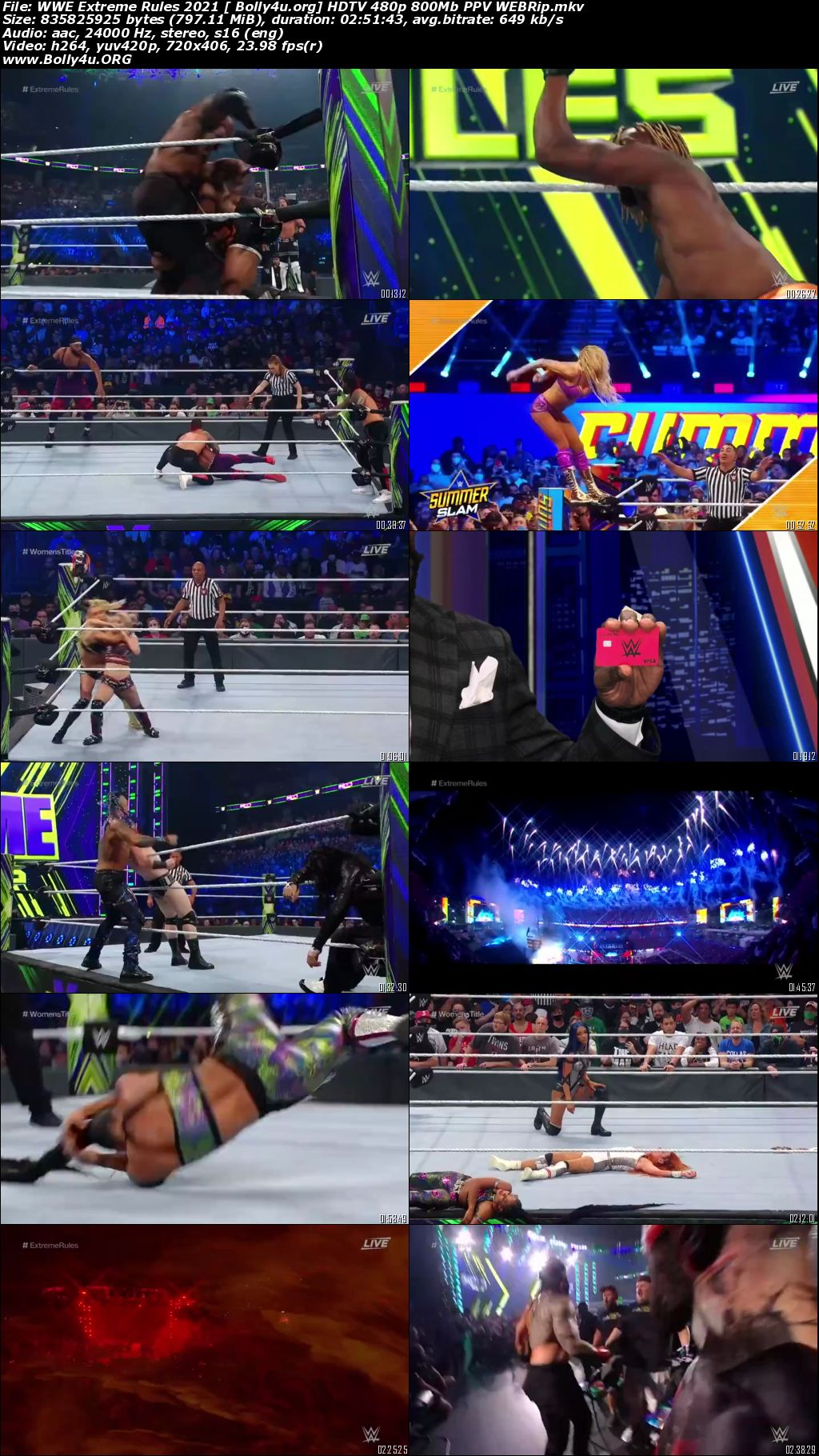 WWE Extreme Rules 2021 WEBRip PPV 480p 800Mb Download