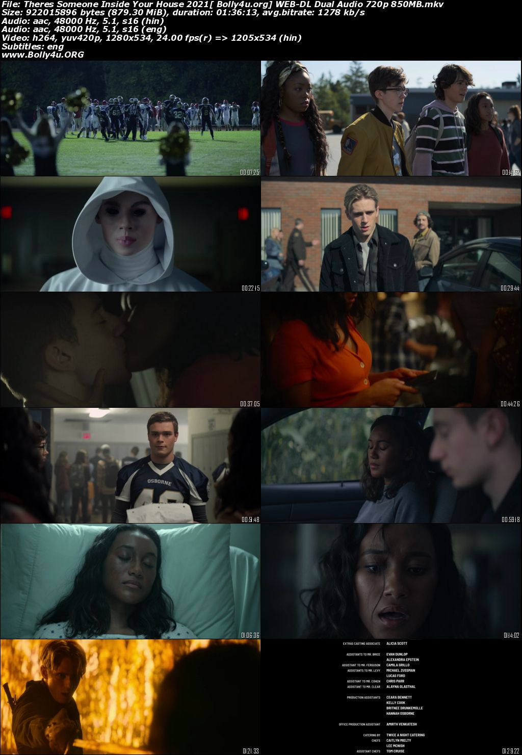 Theres Someone Inside Your House 2021 WEB-DL 350Mb Hindi Dual Audio 480p Download