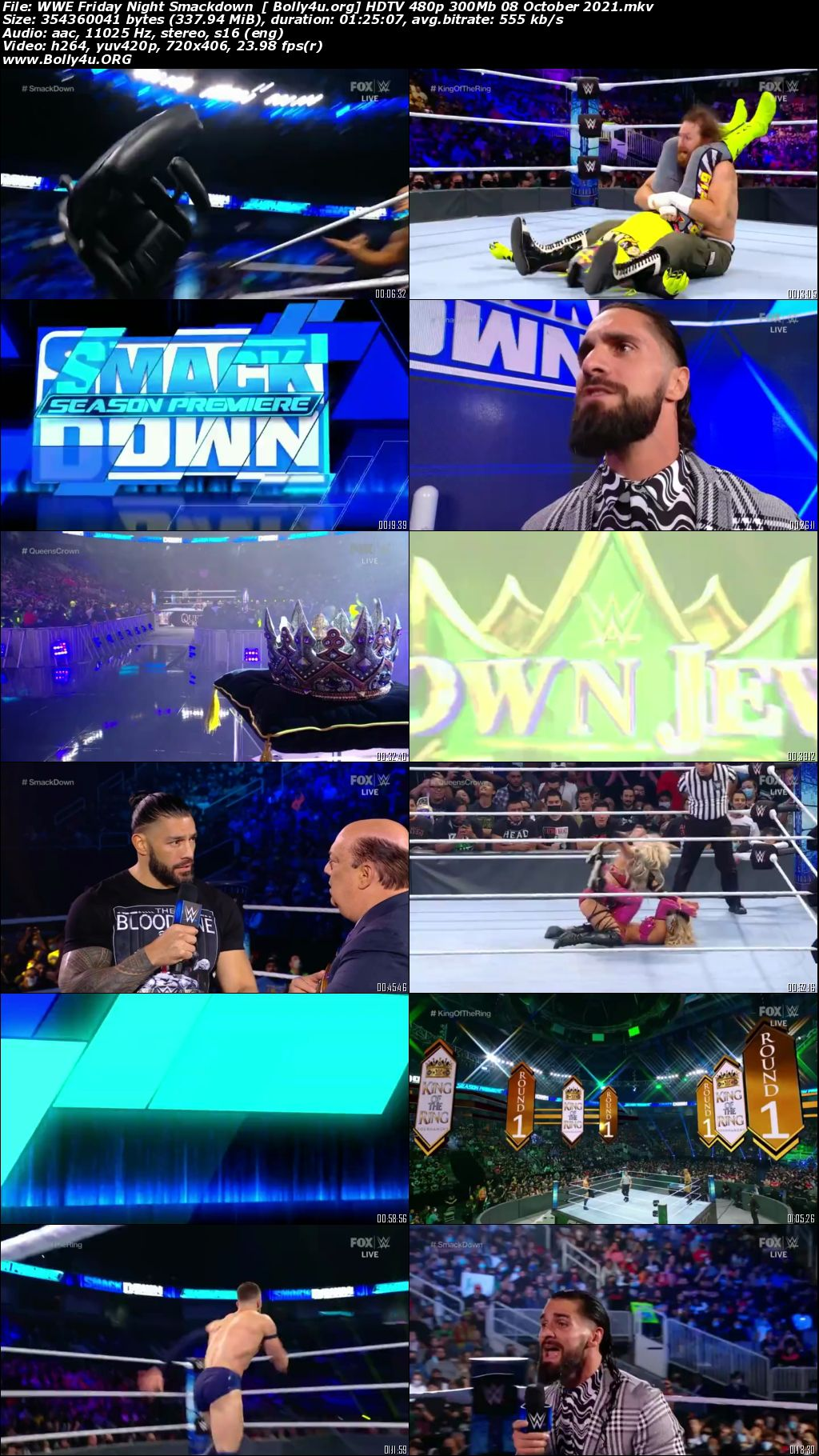 WWE Friday Night Smackdown HDTV 480p 300Mb 08 October 2021 Download