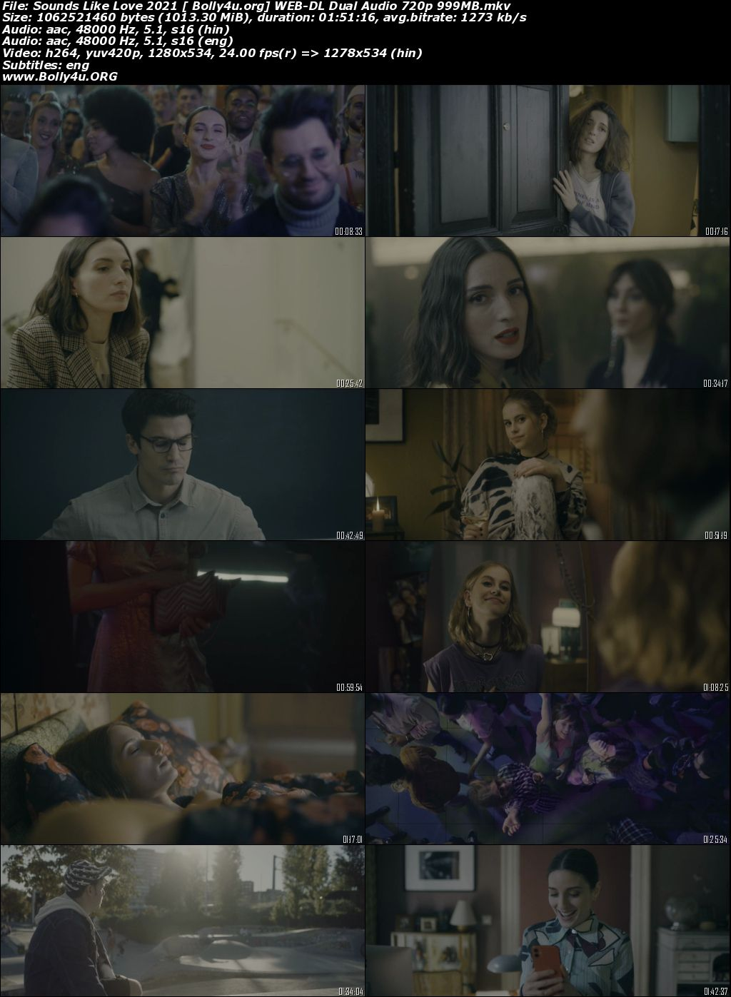 Sounds Like Love 2021 WEB-DL 999MB Hindi Dual Audio ORG 720p Download